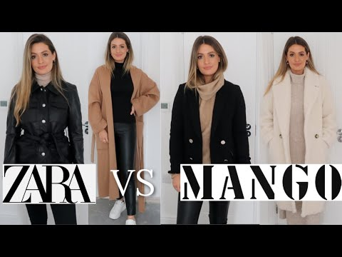 NEW IN ZARA VS MANGO TRY ON HAUL - AUTUMN FALL WINTER 2019