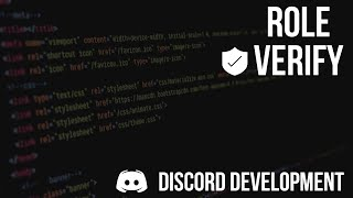 Download Discord.js Bot Development | Role Verify