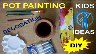 DIY | Diwali Pot Painting Decoration Ideas for Kids Competition School | BOW
