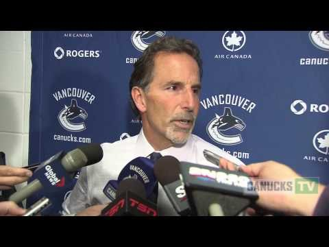 John Tortorella on Canucks win over Flames (October 6, 2013)