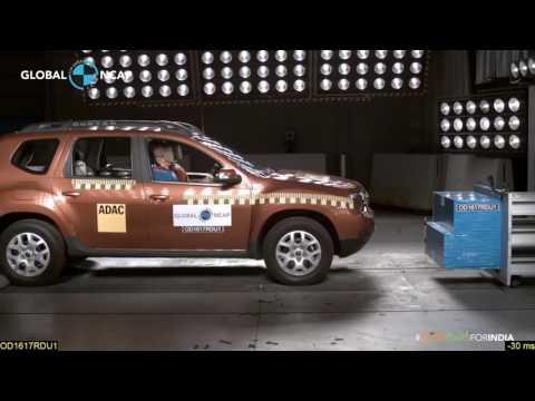 Renault Duster No Airbag/airbag - Crash Test #SaferCarsForIndia
