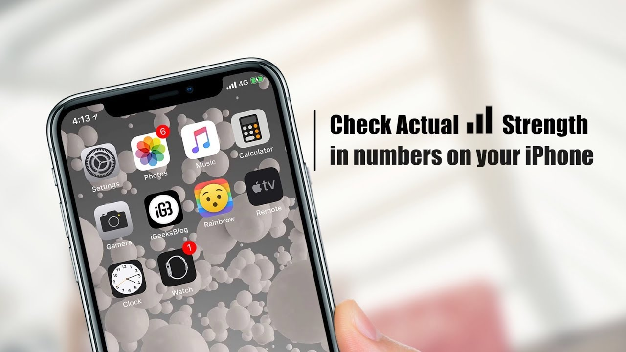 How to See Actual Signal Strength on iPhone in iOS 11