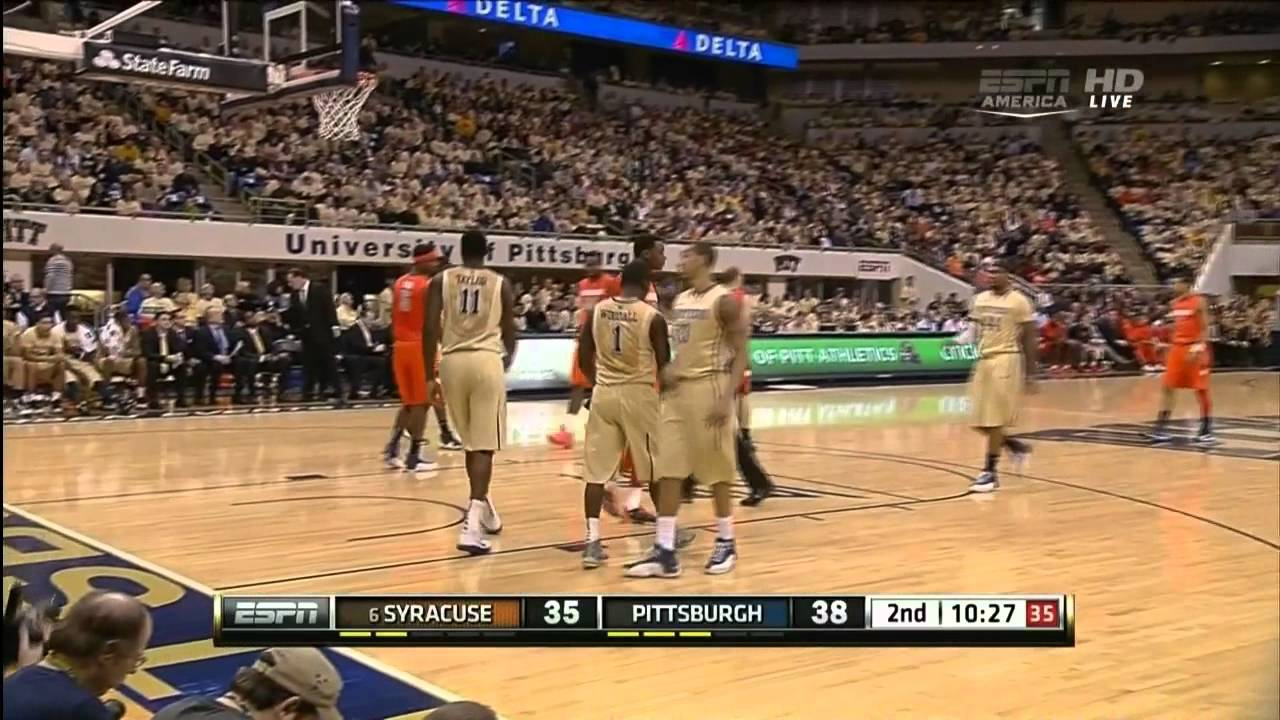6 Syracuse Vs Pittsburgh 02 02 13 Full Game Youtube