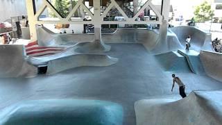 Skate Park Skateboarders  Under The Burnside Bridge In Portland Oregon