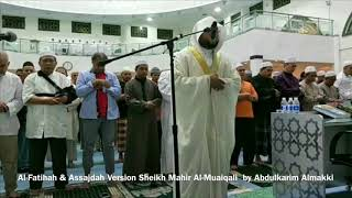 Al-Fatihah & Assajdah Version Sheikh Mahir Al-Muaiqali by Abdulkarim Almakki