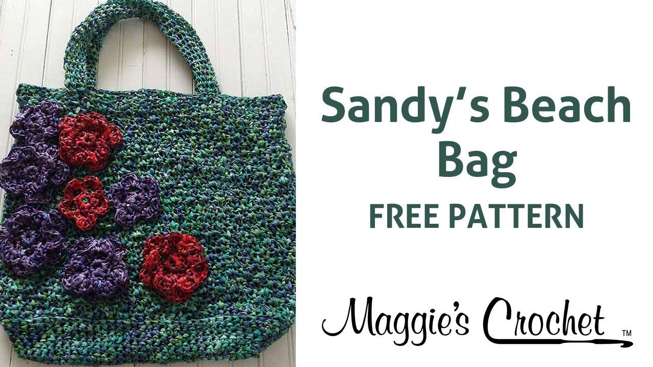 fe9a6b2be477 Raffia Beach Bag Free Crochet Pattern - Right Handed - YouTube