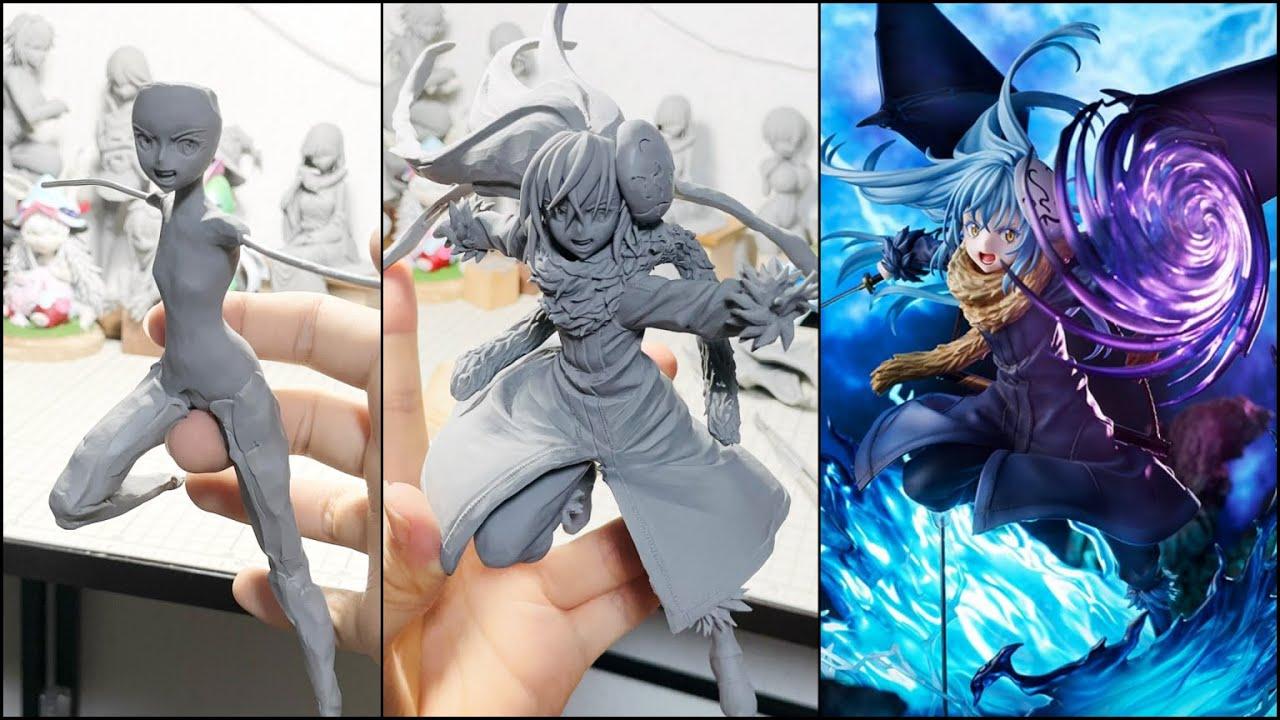 【転スラ】リムル=テンペスト Ultimate verのフィギュアを再現して作ってみた【粘土】- How to make a figure of Rimuru Tempest -