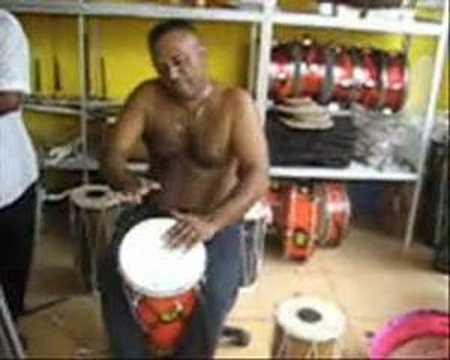 Sri Lankan music shop demonstration