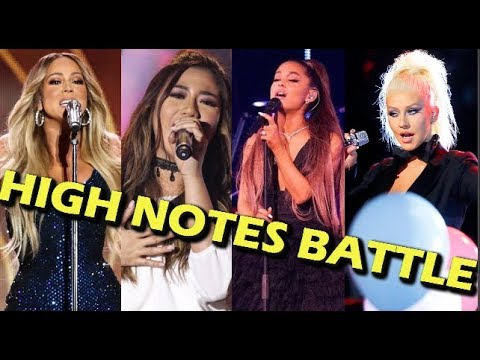 Ariana Grande & Christina Aguilera VS Mariah Carey & Morissette Amon WHISTLE VS FALSETTO