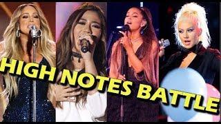 Baixar Ariana Grande & Christina Aguilera VS Mariah Carey & Morissette Amon WHISTLE VS FALSETTO
