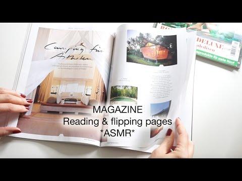 ASMR deutsch in ZEITSCHRIFT blättern & vorlesen / MAGAZINE flipping [ FLÜSTERN * WHISPERING ]