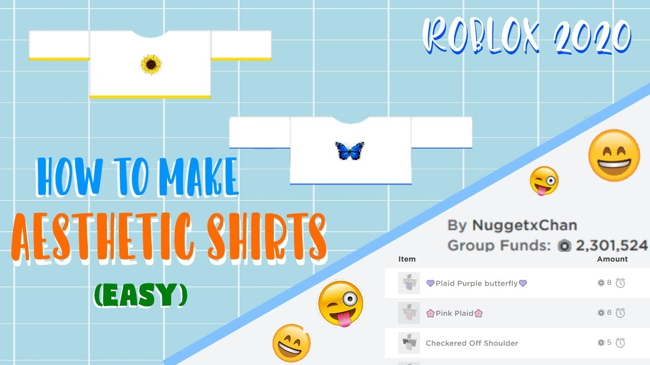 How To Make Sell Aesthetic Shirts On Roblox 2020 Easy Youtube