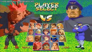 Fightcade - Street Fighter Alpha 2 - YoungLegend(USA) Vs [MG]Alligator(BRA)