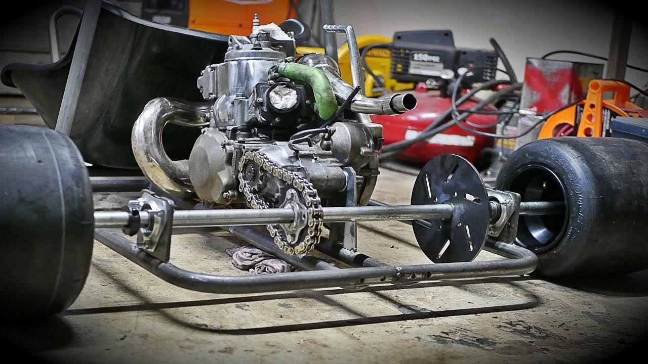 Building A Kawasaki KX 250 Drag Shifter Kart Part 2