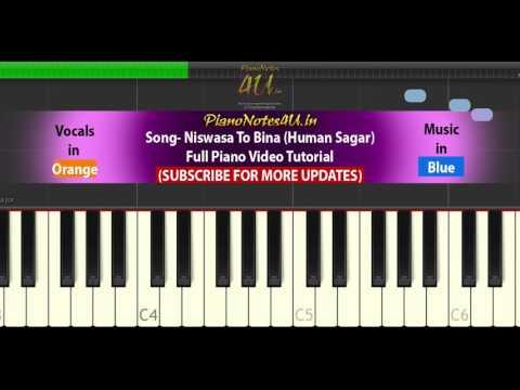 ନିଶ୍ୱାସ ତୋ ବିନା (ଓଡ଼ିଆ) | Niswasa To Bina | Human Sagar | Odia Full Piano Tutorial | Piano Notes 4 U