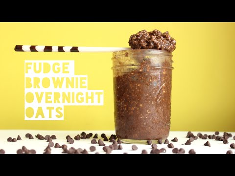 Healthy Fudge Brownie Overnight Oats Recipe | How To Make High Protein Overnight Oatmeal