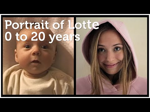 Portrait of Lotte, 0 to 20 years