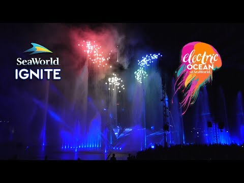 Ignite Fireworks Full Show at SeaWorld Orlando - Electric Ocean