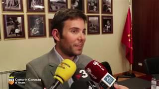 Luís Carlos Medina dèishe eth sòn cargue en Conselh Generau d'Aran