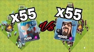 Clash of Clans   ICE WIZARD VS. WIZARD   MASS ICE WIZARD STINKS!