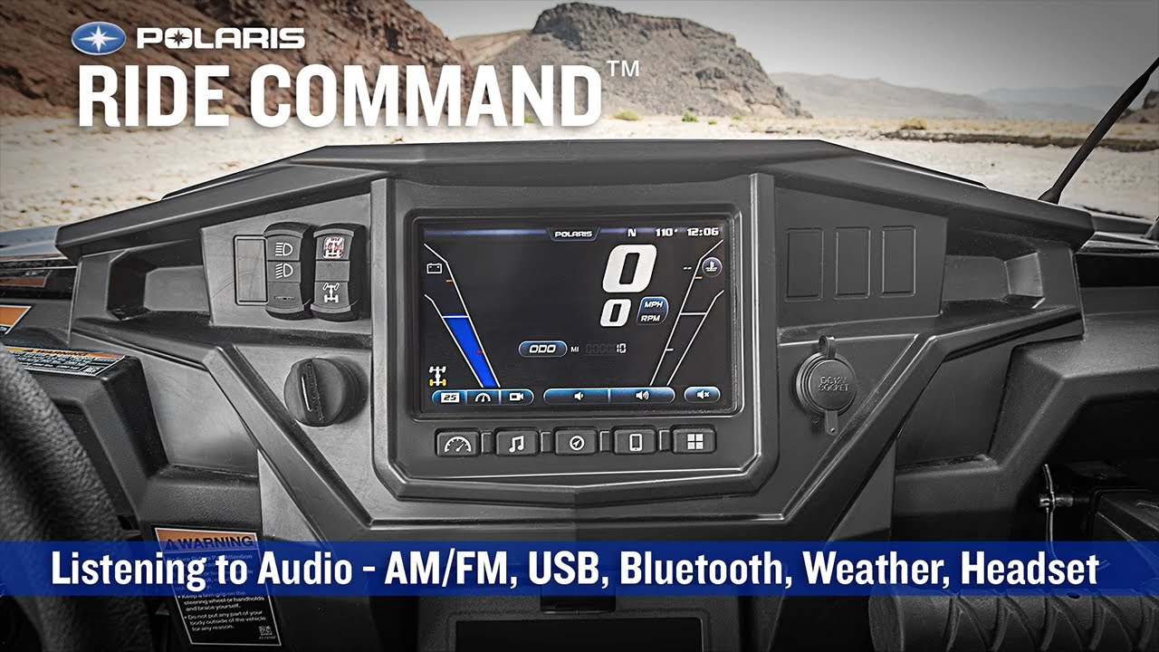Polaris Side By Side >> RIDE COMMAND: Listening to Audio | Polaris RZR® - YouTube