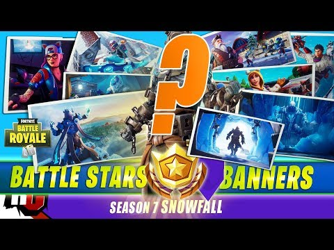 Fortnite SEASON 7 |  All 9 Secret Battle Stars & Banners To Unlock Snowfall Skin (Season 7)