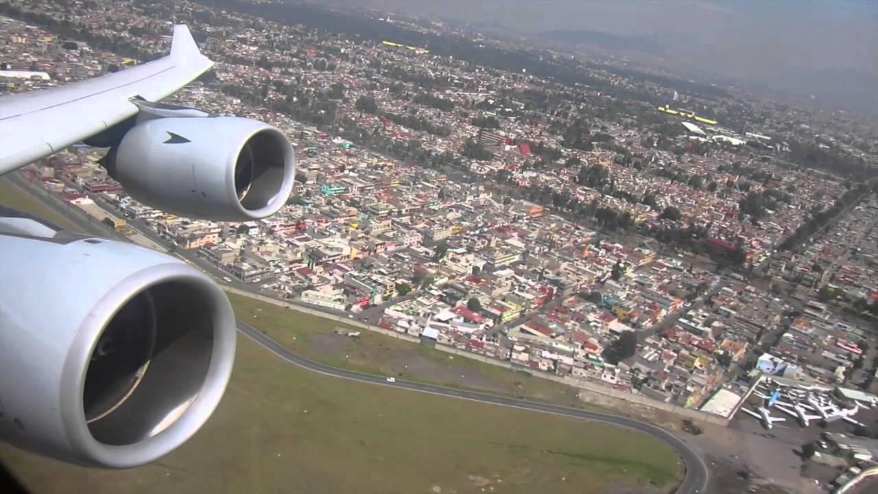 Lufthansa A340 600 Mexico City Take Off Youtube