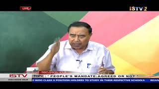 """25th MAY 2019 DISCUSSION HOUR TOPIC: """" PEOPLE'S  MANDATE : AGREED OR NOT """""""