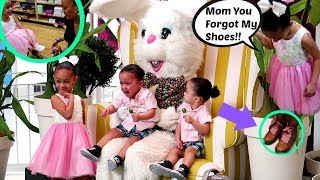 Pictures With The Easter Bunny MOMMY FORGOT IMANI'S SHOES!