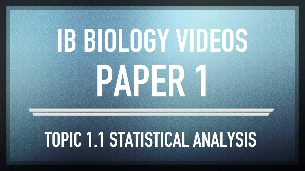 statistical analysis paper