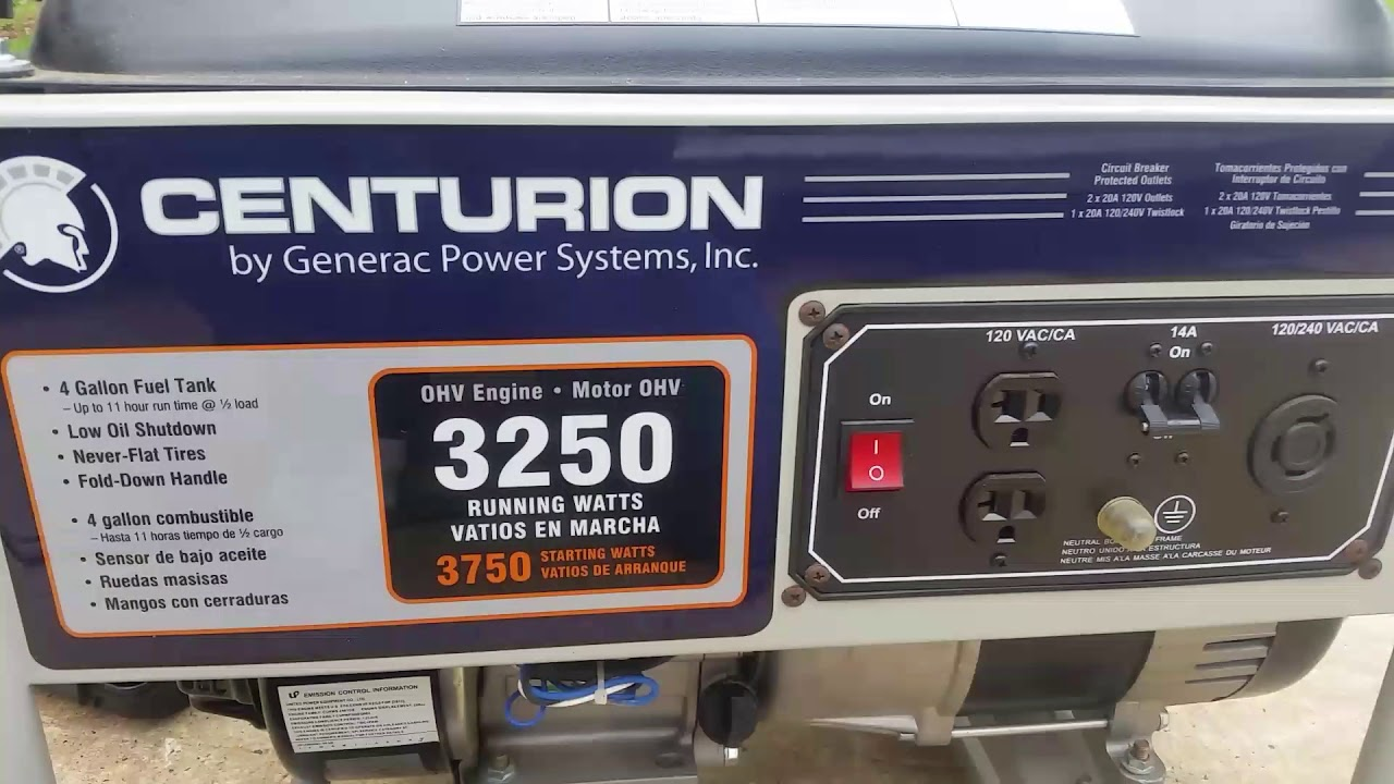 centurion generac generator 3250 wont start or stay running youtube rh youtube com