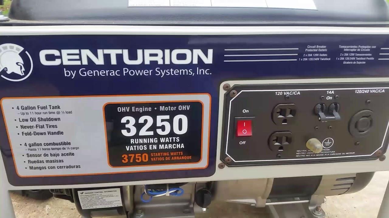centurion generac generator 3250 wont start or stay running [ 1280 x 720 Pixel ]