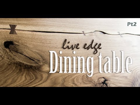 Making a live edge dining table PT2