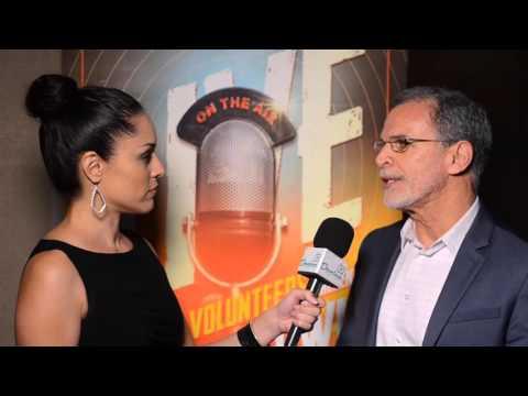 Tony Plana talks with our own Sonia Tello