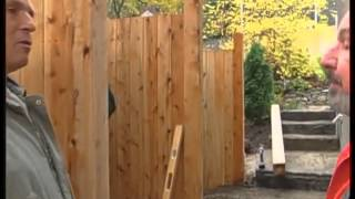 Installing a Fence on a Sloped Site