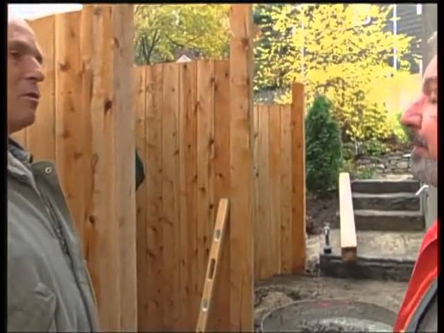 Installing A Fence On Sloped Site You