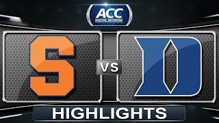 Syracuse vs Duke | 2014 ACC Men