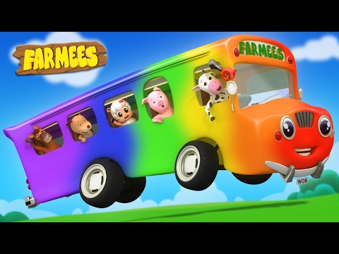 Wheels On The Bus Go Round And Round | Nursery Rhymes Farmees | Kids Songs | Baby Rhymes