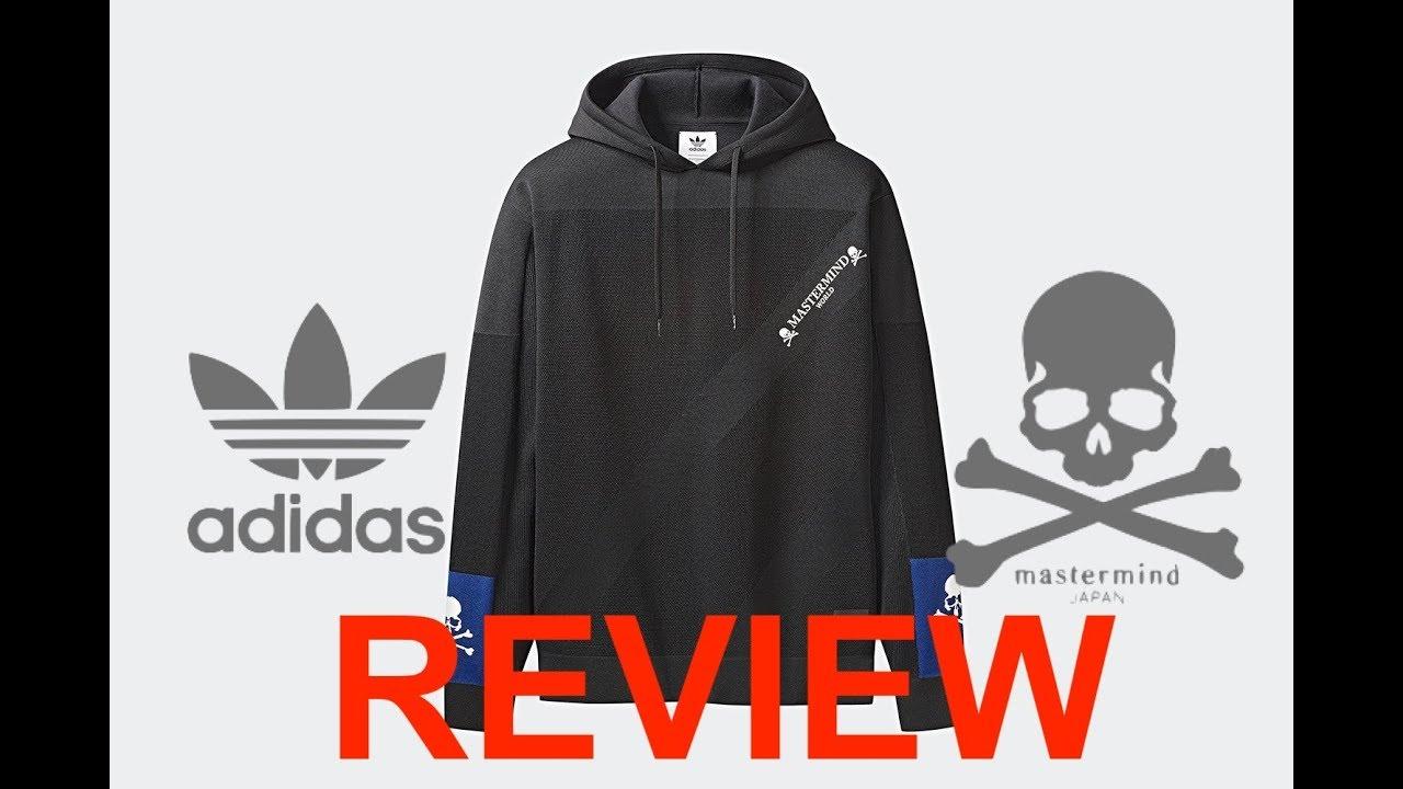 best supplier on feet shots of new lifestyle Mastermind WORLD Japan x Adidas Originals Collaboration hoodie