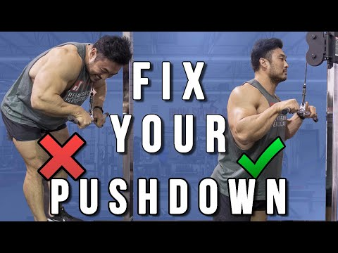 10 Tricep Pushdown Mistakes and How To Fix Them