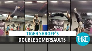 Watch: Tiger Shroff aces double somersaults with uncanny ease