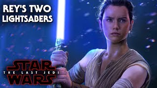 Star Wars The Last Jedi Rey's Two Lightsabers Revealed! - Battlefront 2