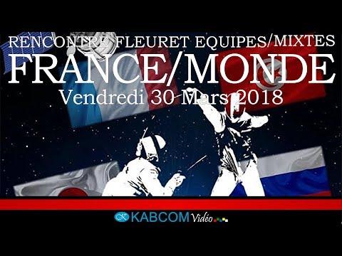 RENCONTRE FLEURET EQUIPES MIXTES - FRANCE/MONDE