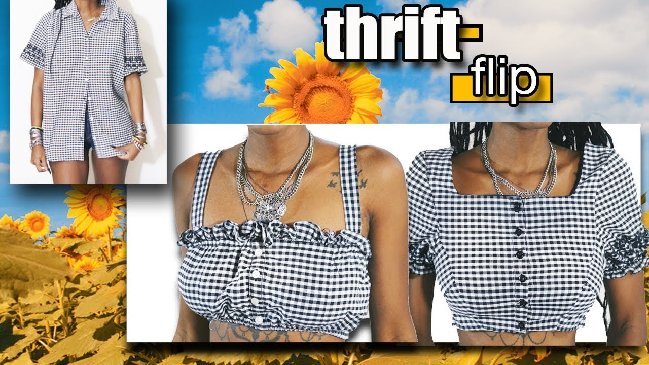 Thrift Flip | Urban Outfitters Dupes | Gingham Button Down ...