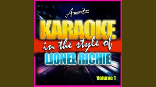 Love Will Conquer All (In the Style of Lionel Richie) (Instrumental Version)