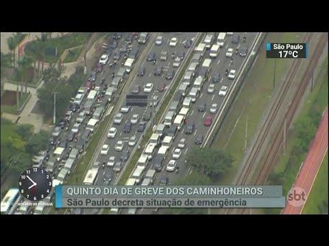 Prefeitura de São Paulo decreta situação de emergência | SBT Brasil (25/05/18)