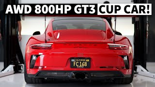 Turbo'd, Body Swapped, 800hp Porsche GT3 Cup Car for the Streets is Insanely Quick