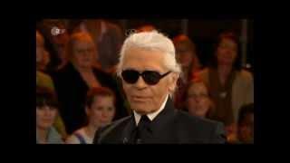 Karl Lagerfeld haut Markus Lanz die Krawatte ins Gesicht