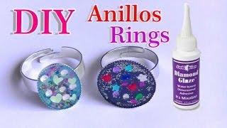 Anillos con Diamond glaze DIY Rings
