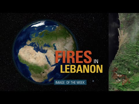 Image of the Week - Fires in Lebanon